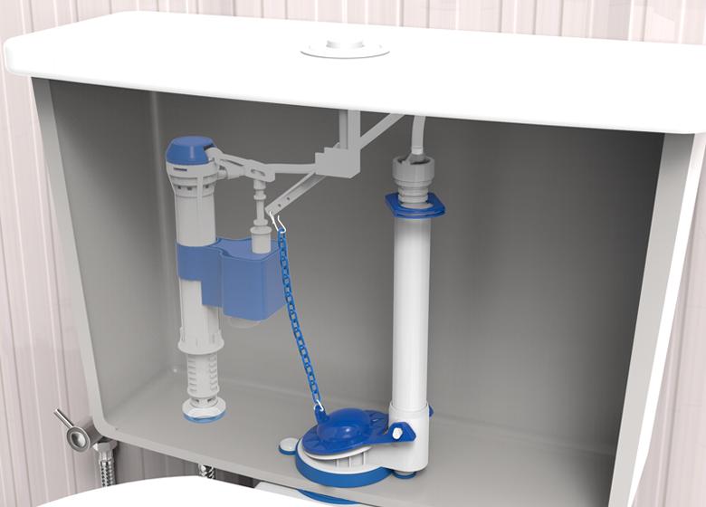 V lvula de descarga de agua para mochila universal for Como colocar una mochila de inodoro